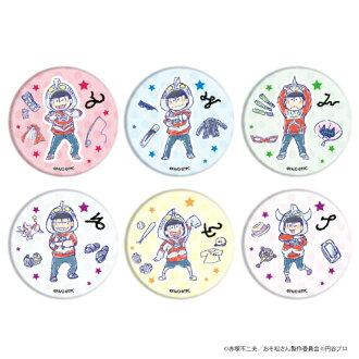 "Tin Badge ""Ulmatsu-san"" 01 / (GraffArt Design) 6Pack BOX(Released)(缶バッジ「ウル松さん」01/(グラフアートデザイン) 6個入りBOX)"