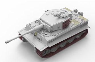 1/35 タイガーI 後期型 プラモデル[ライフィールドモデル]《06月予約》
