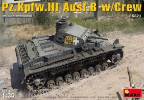 1/35 III号戦車B型5体乗員付 プラモデル[ミニアート]《06月予約》