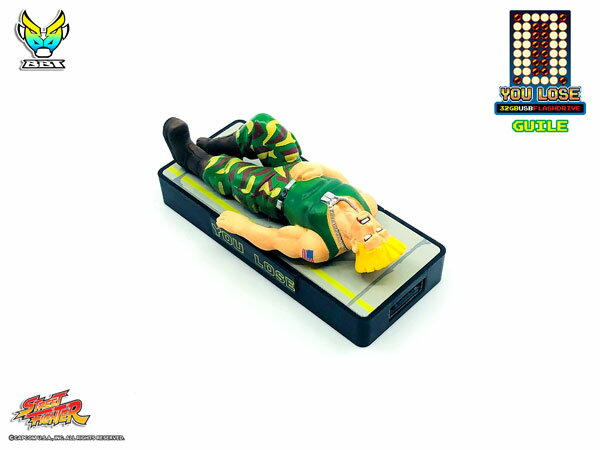 ストリートファイター「YOU LOSE」 32GB USBフラッシュメモリー ガイル[Big Boys Toys]《07月仮予約》
