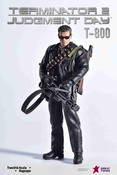 【特典】ターミネーター2 T2/ T-800 1/12 シュプリーム アクションフィギュア[グレートツインズ]【送料無料】《12月仮予約》