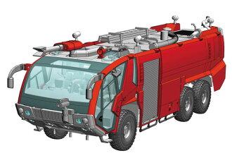 1/72 ローゼンバウアー パンサー 6×6 空港用化学消防車 プラモデル(1/72 Rosenbauer Panther 6 x 6 Airport Crash Tender Plastic Model(Pre-order))