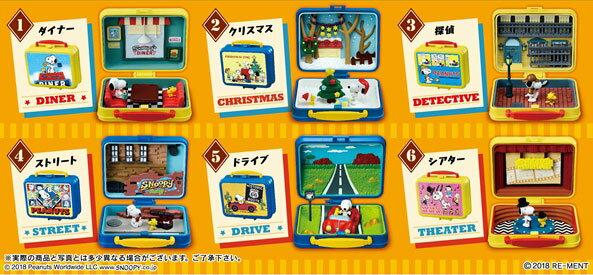 ピーナッツ SNOOPY & WOODSTOCK Little Lunchbox Museum 6個入りBOX[リーメント]《発売済・在庫品》