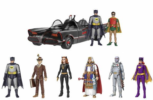 『バットマン 1966年TVシリーズ』 3.75インチ アクションフィギュア 7種セット[ファンコ]【送料無料】《発売済・在庫品》