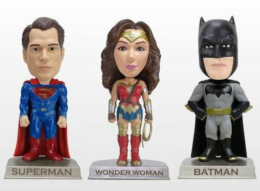 ワッキーワブラー 『バットマン vs スーパーマン ジャスティスの誕生』3種セット[ファンコ]【送料無料】《発売済・在庫品》
