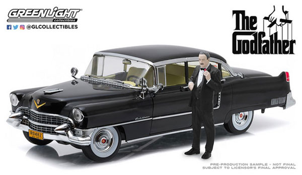 1/18 The Godfather (1972) - 1955 Cadillac Fleetwood Series 60 Special with Don Corleone Figure[グリーンライト]《07月仮予約》