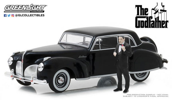 1/43 The Godfather (1972) - 1941 Lincoln Continental with Don Corleone Figure[グリーンライト]《07月仮予約》