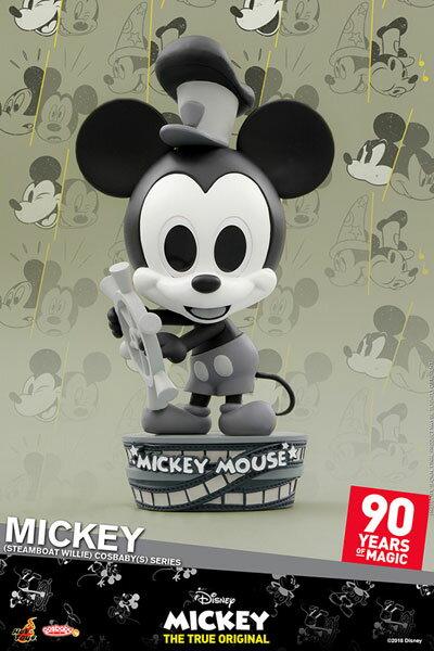 コスベイビー 『ミッキーマウス スクリーンデビュー90周年』[サイズS]ミッキーマウス(『蒸気船ウィリー』版)[ホットトイズ]《発売済・在庫品》