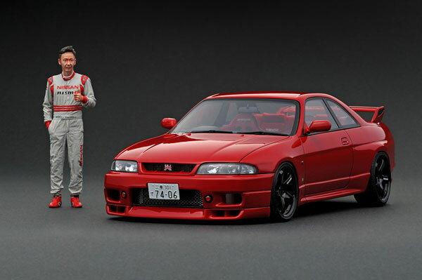 1/18 Nissan Skyline GT-R BCNR33 Matsuda Street Wine Red With Mr. Matsuda 並行輸入品[イグニッションモデル]【送料無料】《発売済・在庫品》