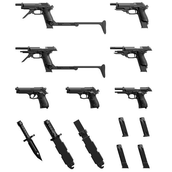 リトルアーモリー[LA049]M9&M93Rタイプ 1/12 プラモデル[トミーテック]《04月予約》