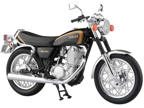 1/12 完成品バイク YAMAHA SR400 ブラックゴールド[スカイネット]《発売済・在庫品》