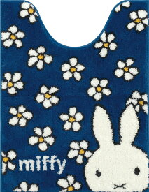 ミッフィー フラワーダンス トイレマット80×60cm ブルー[センコー]《取り寄せ※暫定》