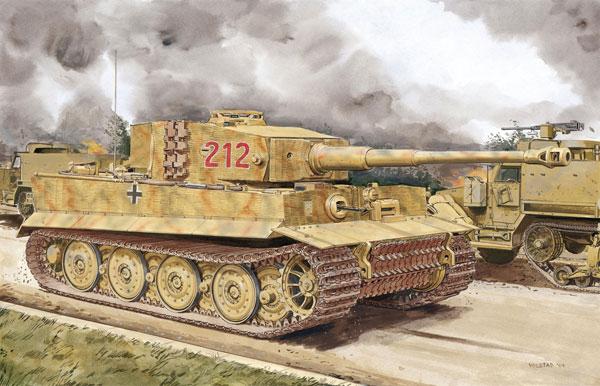 1/35 WW.II ドイツ軍 重戦車 ティーガーI 後期生産型 w/ ツィメリットコーティング (ノルマンディ1944) プラモデル[ドラゴンモデル]《04月予約》