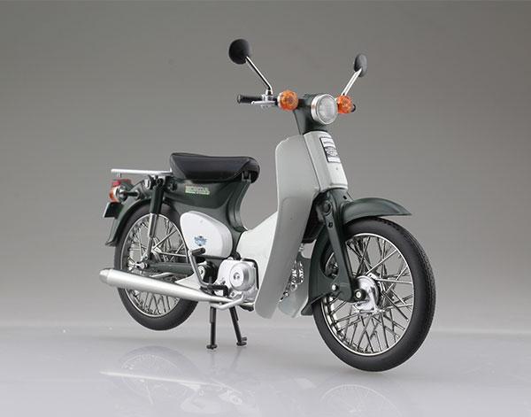 1/12 完成品バイク Honda スーパーカブ50 グリーン[スカイネット]《06月予約》