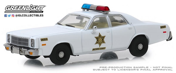 1/43 1977 Plymouth Fury - Hazzard County Sheriff[グリーンライト]《08月仮予約》