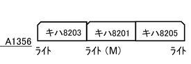A1356 名鉄キハ8000系 特急北アルプス 晩年 3両セット[マイクロエース]【送料無料】《11月予約》