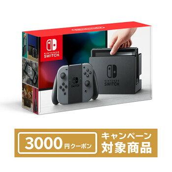 【特典】NintendoSwitchJoy-Con(L)/(R)グレー(本体)[任天堂]《発売済・在庫品》