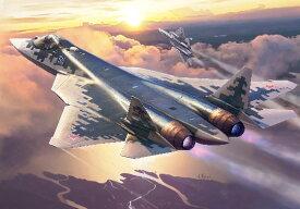 1/72 スホーイ Su-57 プラモデル[ズベズダ]《10月予約》