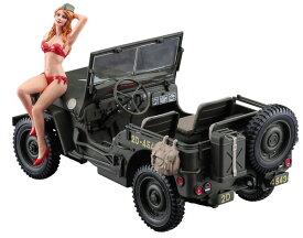 1/24 1/4トン 4×4トラックw/ブロンドガールズフィギュア プラモデル[ハセガワ]《02月予約》