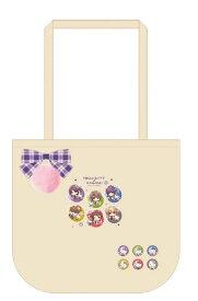 リボントートバッグ+ぷち缶バッジ6個セット ハローキティ×薄桜鬼[アイディアファクトリー]《発売済・在庫品》