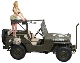 1/24 1/4トン 4×4トラック(50口径 M2機関銃装備) w/ブロンドガールズ フィギュア プラモデル[ハセガワ]《03月予約》
