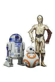 ARTFX+ スター・ウォーズ/フォースの覚醒 R2-D2 & C-3PO with BB-8 1/10 簡易組立キット[コトブキヤ]《発売済・在庫品》
