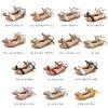 Memory foam insoles! 4 cm larger wedge sole adult strap Sandals size rich S-3 L! Memory foam wedge sole/strap/low heel / fun Chin / enamel / Sandals /25.5cm
