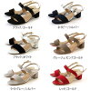 Double belt sandals lady's black gold navy silver-white graige red metallic 22.5 23.0 23.5 24.0 24.5 in the spring and summer
