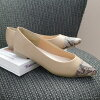Pointed toe flat pumps lady's low-elasticity easy basic suede animal tortoiseshell 1cm heel size rich 25.0cm that is not painful to be able to run