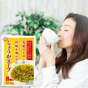 しょうがスープ 48.8g(6.1g×8袋)家庭用 調味料 化学調味料不使用 化学調味料無添加 生姜スープ 時短 国産しょうが使用 あみ印