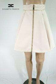 80%OFF 新品 エリザベッタフランキ ELISABETTA FRANCHI スカート 40 ESK266 Sサイズ ベージュ レディース フレアスカート イタリア製
