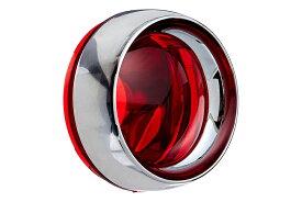 2269kuryakyn クリアキンDEEPDISH ベゼル レッド ウインカーレンズ VTX1800 02-05