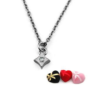 プチチャームチタンネックレス ダイヤモチーフ 天然ダイヤモンド [N0035-WDA&C0050-AD2-40]