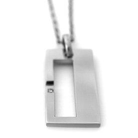 チタンネックレス Combining Square 2.7mm幅チェーン【単品】[P0118-BDS&C0031]