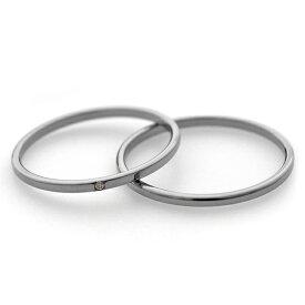 1.5mm幅 シンプルチタンペアリング ナチュラル 石なし&ダイヤ付き [R0222-XXX-XX&R0222-WDA-XX]