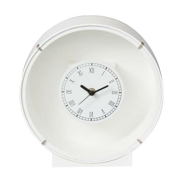 花時計白丸1コ フラワーアレンジメント プリザーブドフラワー 置時計 掛け時計