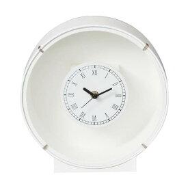 花時計 フラワーベース 白 丸 1個 プリザーブドフラワー アレンジメント 置時計 フラワーアレンジメント ハンドメイド DYI 掛け時計