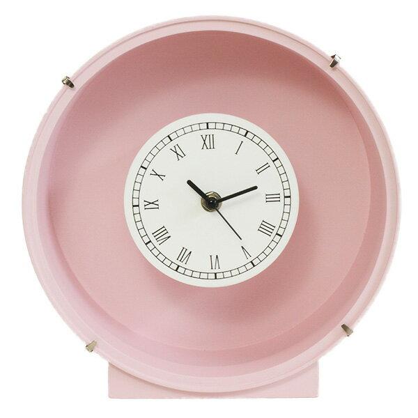花時計ピンク丸1コ フラワーアレンジメント プリザーブドフラワー 置時計 掛け時計