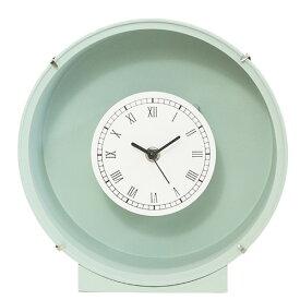 花時計 フラワーベース グリーン 緑 丸 1個 フラワーアレンジメント プリザーブドフラワー 置時計 掛け時計