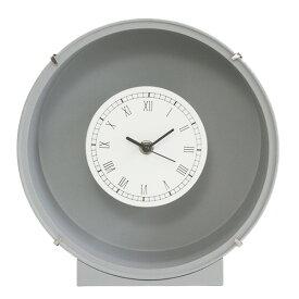 花時計 フラワーベース フレンチ グレー 丸 1個 フラワーアレンジメント プリザーブドフラワー ハンドメイド DYI 置時計 掛け時計
