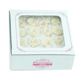 プリザーブドフラワープロヴァンスローズ キュート16輪 #42ソイミルク フラワーアレンジメント 花材 バラ薔薇