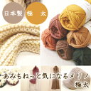 (毛糸)あみもねっと 気になるメリノ極太 〈メリノウール100%使用〉純毛 オリジナル毛糸 日本製