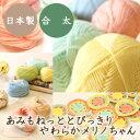 (毛糸)あみもねっと とびっきりやわらかメリノちゃん 合太〈エクストラファインメリノウール使用) 日本製 オリジ…