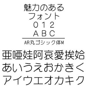 【5分でお届け】AR丸ゴシック体M Windows版TrueTypeフォント【C&G】【ダウンロード版】