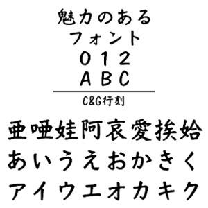 【5分でお届け】C&G行刻 (Windows版 TrueTypeフォントJIS2004字形対応版) 【C&G】【ダウンロード版】