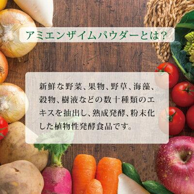 【送料無料1000円ポッキリ】アミエンザイムパウダー9包入りリピーター続出粉末酵素ミネラルビタミンアミノ酸ダイエット健康美容植物性発酵食品amityアミティ