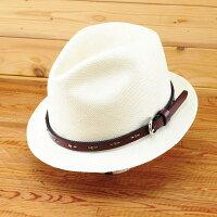 【送料無料】BartyBlue/Newバーティー・クウォーク(革ベルト仕様)他には無い革バンド人気のショートブリムタイプ名入れ可能プレゼントに最適お洒落なパナマ帽エクアドル