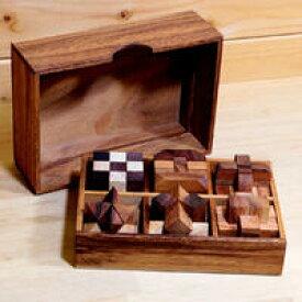 送料無料・名入れ無料「離れているご両親にプレゼント!」木製パズル6個セット 少し簡単? 箱に名入れも可能です 説明書付き【ロックスモーション・ウッドパズル 6個セット】