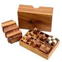 【ロックスモーション・ウッドパズル プラスワン】 木製のパズルで頭脳勝負に挑戦! 右脳の訓練! プレゼントに最適です 組み立て方の動画あり