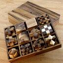 【名入れ&送料無料】脳トレ 木製パズル 木製のパズルで頭脳勝負に挑戦 【ロックスモーション・12個セットウッドパズ…